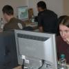 Geocup 2006 - Lucie Burianová při zpracování úkolu