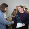 Geocup 2007 - Alena Vondráková přebírá ocenění